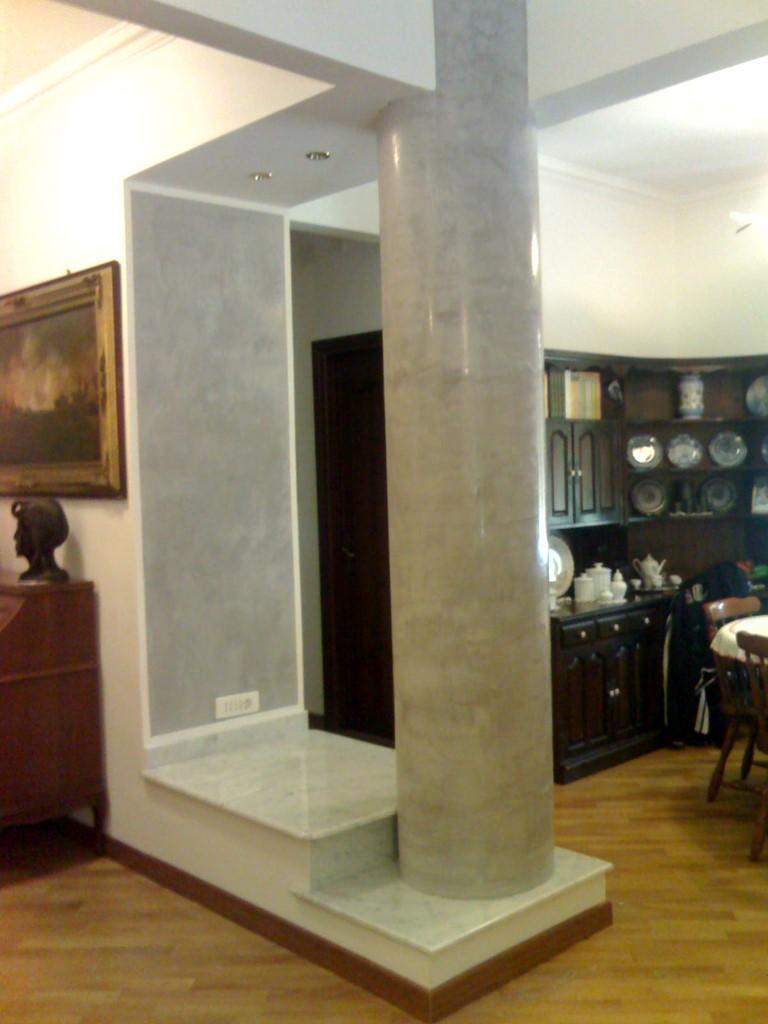 Colonna effetto marmo realizzata in stucco veneziano - Marmo veneziano ...